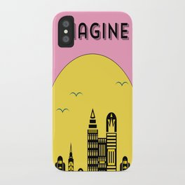 The Imaginary City (pink) iPhone Case