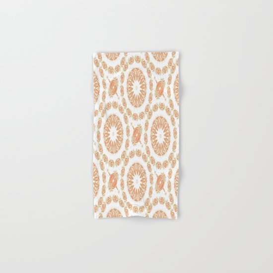 Citrine Mandala Tile Hand & Bath Towel