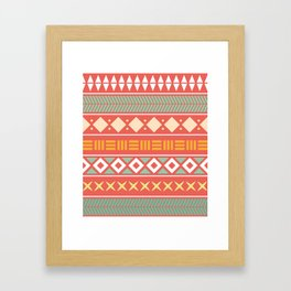Etnic Color Pattern Framed Art Print