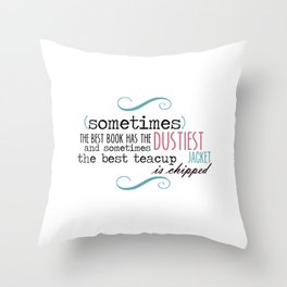 A Chipped Cup Throw Pillow