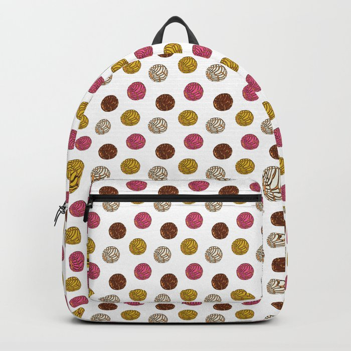3c8c17627ac1 Pan Dulce (white bg) Backpack by yocelynriojas