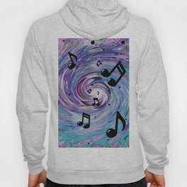 Musical Notes in Blue Hoody