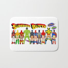Superhero Butts Crack Smack Bath Mat