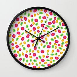 Colorful Circles Abstract Print Wall Clock