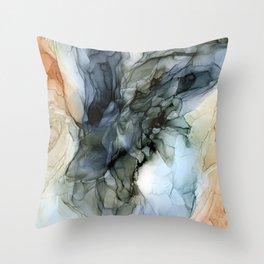 Southwestern Desert Abstract Landscape Inspired Throw Pillow
