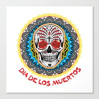 day of the dead Canvas Prints featuring Day of the Dead by Gary Grayson