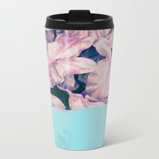 Teal Sorbet on Jungle Metal Travel Mug