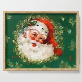 Bubble Dot Santa Christmas Serving Tray