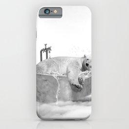 POLAR BEAR BATH iPhone Case