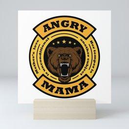 Angry mama Mini Art Print
