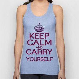 Keep calm and do it yourself Unisex Tank Top