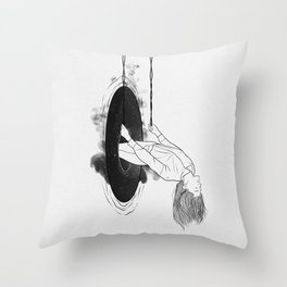 Running from it all. Throw Pillow
