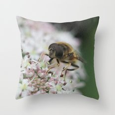 Flower Drone Throw Pillow