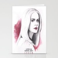coven Stationery Cards featuring Cordelia Foxx art design by Dominique's photos