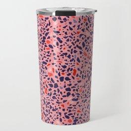 Terrazzo pink red blue Travel Mug