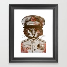 Badass Pets : The Siberian Captain Framed Art Print