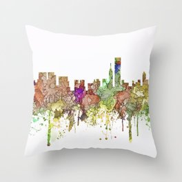 Chicago,Ilinois Skyline SG -Faded Glory Throw Pillow