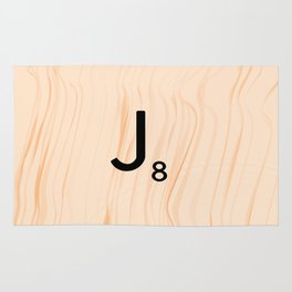 Scrabble Letter J - Large Scrabble Tiles Rug