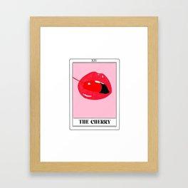 the cherry tarot card Framed Art Print
