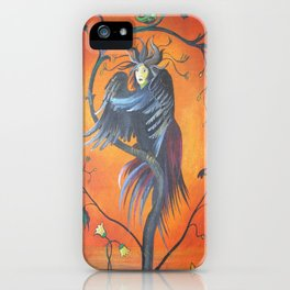 Gamaun The Prophetic Bird With Ruffled Feathers iPhone Case