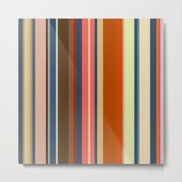 Minimal Art Retro Lines 13B Metal Print