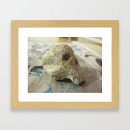 Face of Death Framed Art Print