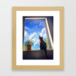 It's a big world out there Framed Art Print