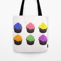 cupcakes Tote Bags featuring Cupcakes by kourai