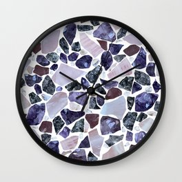 Gemstone Mosaic - White Grout Wall Clock