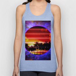 Synthwave Poster v.5 Unisex Tank Top
