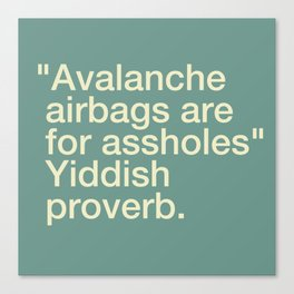 Avalanche Airbags Canvas Print