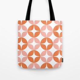 Mid Century Modern Motif Pattern in Burnt Orange and Blush Tote Bag