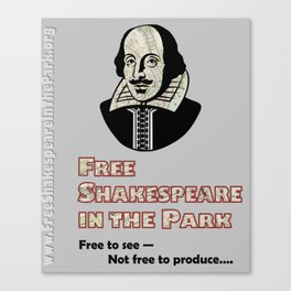 Free Shakespeare in the Park Milwaukee Map Poster Canvas Print