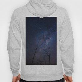 Dry trees pointing towards the Milky Way Hoody