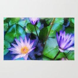 Purple Lotus Rug