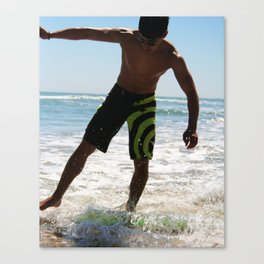 Skim Boarding Canvas Print