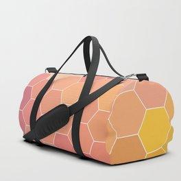 COLORFUL RETRO HEXAGONS HONEYCOMB Duffle Bag