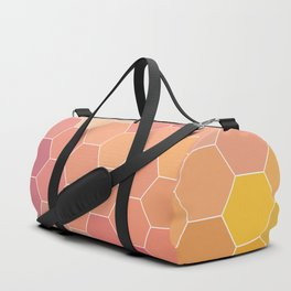 COLORFUL RETRO HEXAGONS HONEYCOMB Duffle Bag