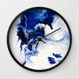 Riveting Abstract Watercolor Painting Wall Clock