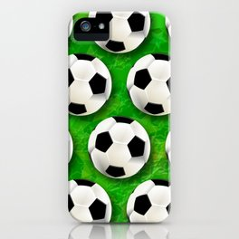 Soccer Ball Football Pattern iPhone Case