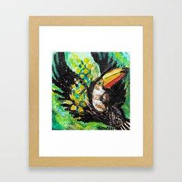 Toucan in flight Framed Art Print