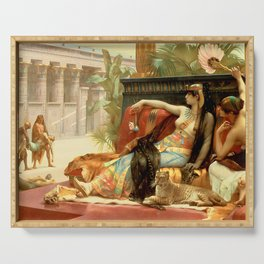 "Alexandre Cabanel ""Cleopatra Testing Poisons on Condemned Prisoners"" Serving Tray"