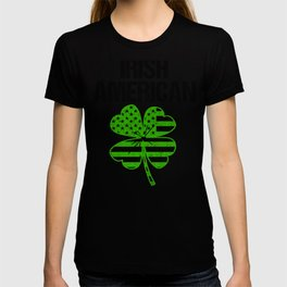 Funny Irish American Flag Vintage Clover for Patrick's day design T-shirt