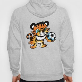Soccer Tiger (color) square Hoody