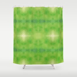 Kaleidoscopic design in soft green colors Shower Curtain