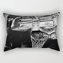 Black And White Basketball Art Rectangular Pillow