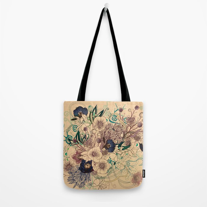 Zentangle Floral mix Tote Bag