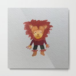 Lion Jungle Friends Baby Animal Water Color Metal Print