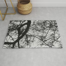 Bare Tree Branches First Flowers Rug