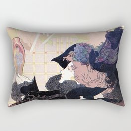 1899 Art nouveau auction journal ad Rectangular Pillow